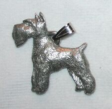 Schnauzer Dog Harris Fine Pewter Pendant USA Made