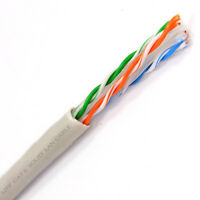 1000' Ft Bulk CAT6 23 AWG UTP Twist Pair Solid Network Ethernet LAN Cable Gray
