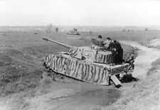 B&W WW2 Photo WWII German Pzkpfw. IV  Russia Camo