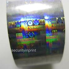 "Holographic Silver Security Hot Foil ""GENUINE ORIGINAL"" Roll 30mm wide 120m Long"
