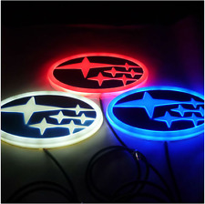 4D Car LED Real Logo Light Auto Tail Lamp Emblems For SUBARU FORESTER Legacy