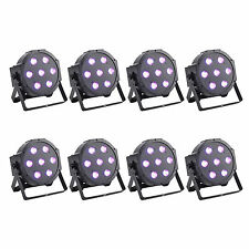 AU STOCK 8PCS 7 RGBW LED Par Light DMX512 70W 8Channel Club KTV Wedding DJ X'mas