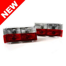 74-80 VW MK1 RABBIT/GTI & 85-93 CABRIOLET EURO TAILLIGHTS - CRYSTAL CLEAR/RED