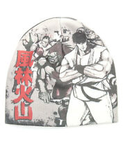 OFFICIAL STREET FIGHTER RYU, BLANKA FIGHTERS WHITE PRINT BEANIE HAT (BRAND NEW)