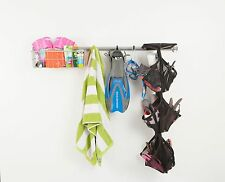 Shoe Rack Wall Mounted Garage Storage and Coat, Hat, Glove Holder by Monkey Bars