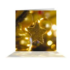 Pack of 10 'Golden Star' Quality Christmas Cards Including Envelopes