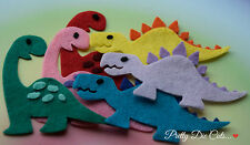 Felt Dinosaurs (pack of 2) Die Cut Craft Embellishments