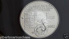 5 euro Ag San Marino 2016 Madre Terra Saint Marin Erde Earth Terre Tierra Земля