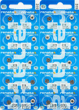 20 pcs Renata Watch Batteries 319 SR527SW SR527 527 0% MERCURY