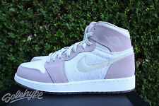 AIR JORDAN 1 RETRO HIGH PREM GS GG 9 Y HEIRESS BONE PLUM FOG WHITE 832596 025