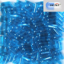 1000 Empty Gelatine  Gelatin blue transparent capsules size 2 size2 EU products