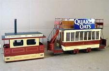 SCRATCH KIT BUILT 3.5 inch GAUGE SUNDERLAND TRAMWAYS STEAM TRAM TROLLEY CAR oy