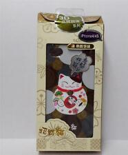 Beautiful 3D Maneki Neko Lucky Cat Iphone 4 / 4S Plastic Case Cover Brown