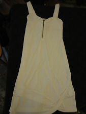White Sleeveless Sexy Bodycon Short Dress Silver Tone Zip - H&M - Size 8 - NWOT