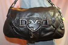 JUICY COUTURE Medium Leather Brown Shoulder Hobo Tote Satchel Slouch Purse Bag