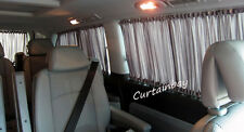 VW transporter T5 rear curtains full set.Campervan Blinds. Black