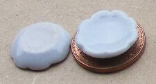 1.12 plaques céramique blanche (2) maison de poupées cuisine miniature accessoire 1,6 cm W9