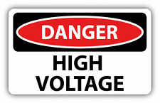 "Danger High Voltage Sign Warning Car Bumper Sticker Decal 6"" x 4"""