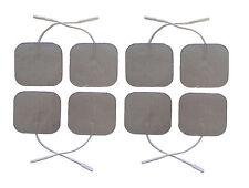 Premium Silver Tens Electrodos almohadillas 8 Square altamente Adhesivo decenas almohadillas