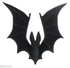 "Bat Wings Embroidered Patch 8cm X 8.5cm (3 1/4"" x 3 1/2"") approx"
