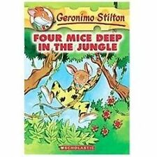Four Mice Deep in Jungle by Geronimo Stilton (2004, Hardcover)
