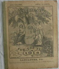 Agricultural Almanac For The Year 1914 Lancster PA