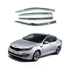 New Chrome Sun Visor Shade Rain Vent Wind Guard for Kia Optima 2011-2013 A-478