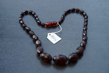ANTIKE ANTIQUE CHERRY Bakelitkette BakeliteVerlauf Art Deco NECKLACE FACETIERT