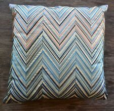"Missoni Home Janet 16 x 16"" Embroidered Zig Zag Cushion or Pillow, color 170 v2"