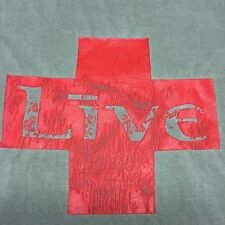 Vintage Live T-Shirt 2-sided Rock Heavy Metal Band Tour Concert Red Cross Grunge