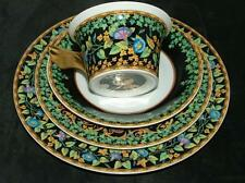 VERSACE Gold Ivy 3 piece place setting with free gold wing cup by Rosenthal