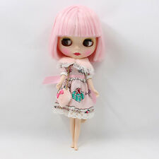 """12"""" Nude Blythe Doll from Factory pink short hair with bang free shipping new"""