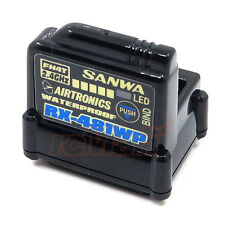 Sanwa RX-481WP 2.4GHz FHSS4 4 Channel Waterproof Receiver RC Cars #107A41311A