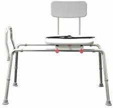 Snap-N-Save Sliding Transfer Bench 77662 w Swivel Seat Bath Safety Shower Chair