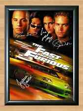 Fast and Furious Signed Cast Vin Diesel Signed Autographed A4 Poster Print Photo