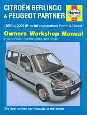 CITROEN BERLINGO & PEUGEOT PARTNER 1.4 1.6 1.8 1.9 2.0 1996 - 2005 REPAIR MANUAL
