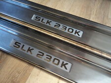 Mercedes Benz SLK R170 230K 2 Pc Illuminated Sill Plates MB,AMG,BRABUS