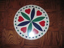 """24"""" PA Dutch Hex Sign-H2 (green)  Love and Romance Made In The USA"""