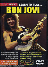 LICK LIBRARY Learn To Play BON JOVI Lesson LIVIN' ON A PRAYER Tutor GUITAR DVD