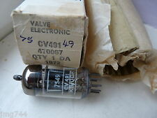 CV491 ECC82 MULLARD 1972 BLACKBURN  NEW OLD STOCK VALVE TUBE N13-3