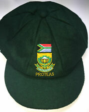 CLASSICAL TRADITIONAL MELTON WOOL CAP GREEN SOUTH AFRICA PROTEAS LOGO MENS