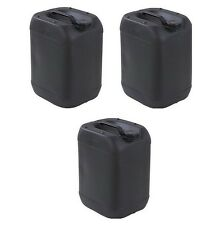 25 Litre Black Plastic Water Storage Container Food Petrol Can Fuel Jerry Drum