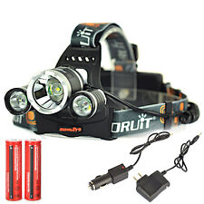8000Lm 3x XML T6 LED Headlamp Rechargeable Headlight 18650 Head Torch Light Lamp