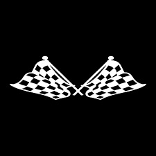 Checkered Flag Race Racing Finish Line Car Truck Window Vinyl Decal Sticker.