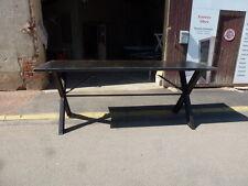 très grande table haute industrielle bar à vin cave vignoble comptoir 105 cm