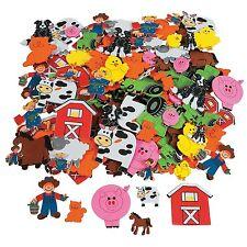 500 Assorted Barnyard Farm Shapes Foam Self Adhesive Craft Stickers New Art Supp