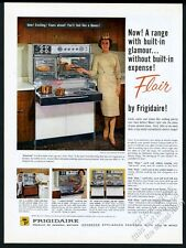 1960 Frigidaire Flair double oven pull-out range 4 photo vintage print ad