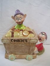 Disney Auctions Dopey and Grumpy LE 250 Cookie Jar w/Box