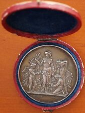1886 France Silver Medal  Horticultural Society of Melun  Fontainebleau Cased