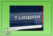 2014 15 2016 Metallic Chrome Toyota Tundra Tailgate Inlay Insert Letters Set